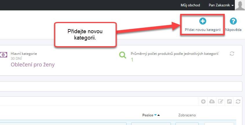 Přidání nové kategorie v Prestashopu | 1presta.cz
