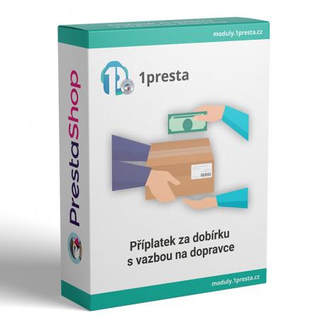 PrestaShop modul - příplatek za dobírku